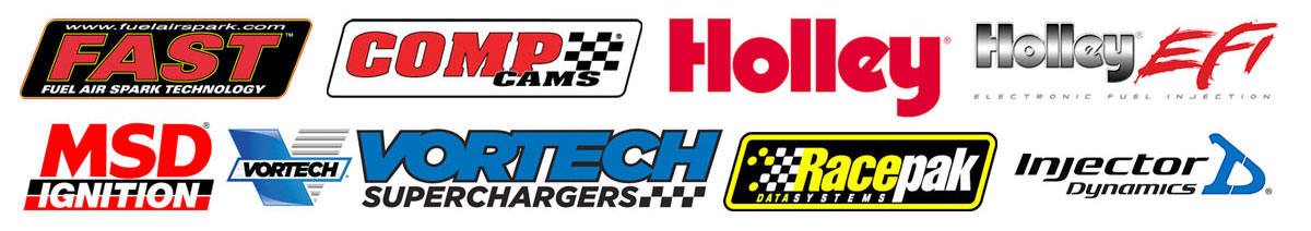 Engine Products by FAST, Comp Cams, Holley, MSD Ignition, Vortech, Racepak, Injector Dynamics